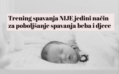 Trening spavanja NIJE jedini način za poboljšanje spavanja beba i djece